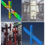 فیلم آموزشی مدلسازی آزمایشگاهی اتصال تیر فولادی به ستون CFT به کمک بولت های مدفون