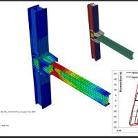 تقویت اتصال خمشی فولادی با سخت کننده های ذوزنقه ای