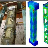 بهسازی ستون بتنی دمبلی شکل با ژاکتهای فلزی در آباکوس