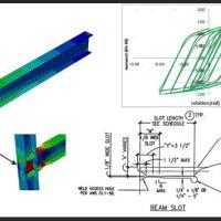 مدلسازی اتصال تیر به ستون گیردار با بال کاهش بافته و جان شیاردار در آباکوس