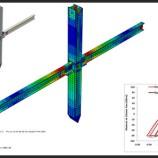 اتصال گیردار تیر به ستون صلیبی شکل با سخت کننده در آباکوس