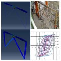 فیلم آموزشی مدلسازی و مقایسه نمودار چرخه ای هسترزیس قاب فولادی با تیر پیوند قائم