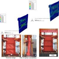 صحت سنجی دیواربرشی فولادی سه طبقه تحت بارگذاری سیکلی
